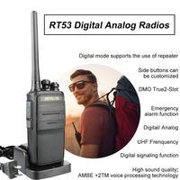 מכשיר הקשר שני Retevis RT53 DMR דיגיטלי מכשיר הקשר 2W UHF DMR רדיו שני הדרך רדיו Comunicador משדר דיבורית הווקי טוקיז רדיו שינקין (4)