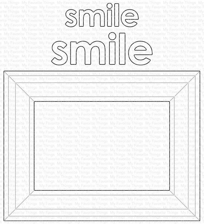 Metal Cutting Dies Smile Frame Cut Die Mold Decoration Scrapbook Paper Craft Knife Mould Blade Punch Stencils Die