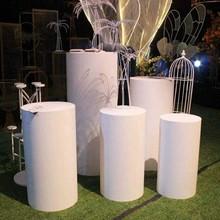 Novos produtos redondo cilindro pedestal exibir arte decoração plinths pilares para diy decorações de casamento feriado