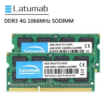 Latumab RAM DDR3 4GB 8GB 16GB 1066mhz Laptop Memory PC3-8500 SODIMM Memory 204Pin 1.5V Notebook Memory Memoria DDR3 RAM Module ddr3l 8gb memory ram 1600mhz 1 35v sodimm ram 204pin laptop ram for amd ddr3 motherboard