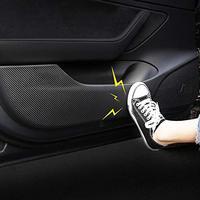 Anti Kick Pad ochrony zestaw naklejek dla Tesla Model 3 schowek na rękawiczki pokrywa naklejki skóra z włókna węglowego tekstury w Naklejki samochodowe od Samochody i motocykle na