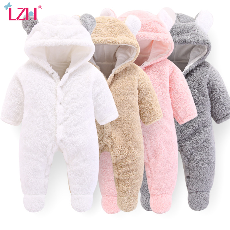 Baby Winter Overalls For Baby Girls Costume 2020 Autumn Newborn Clothes Baby Wool Rompers For Baby Boys Jumpsuit Infant Clothing