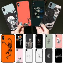 OFFeier Funny skull art dance Customer High Quality Phone Case for iPhone 11 pro XS MAX 8 7 6 6S Plus X 5 5S SE XR cover(China)