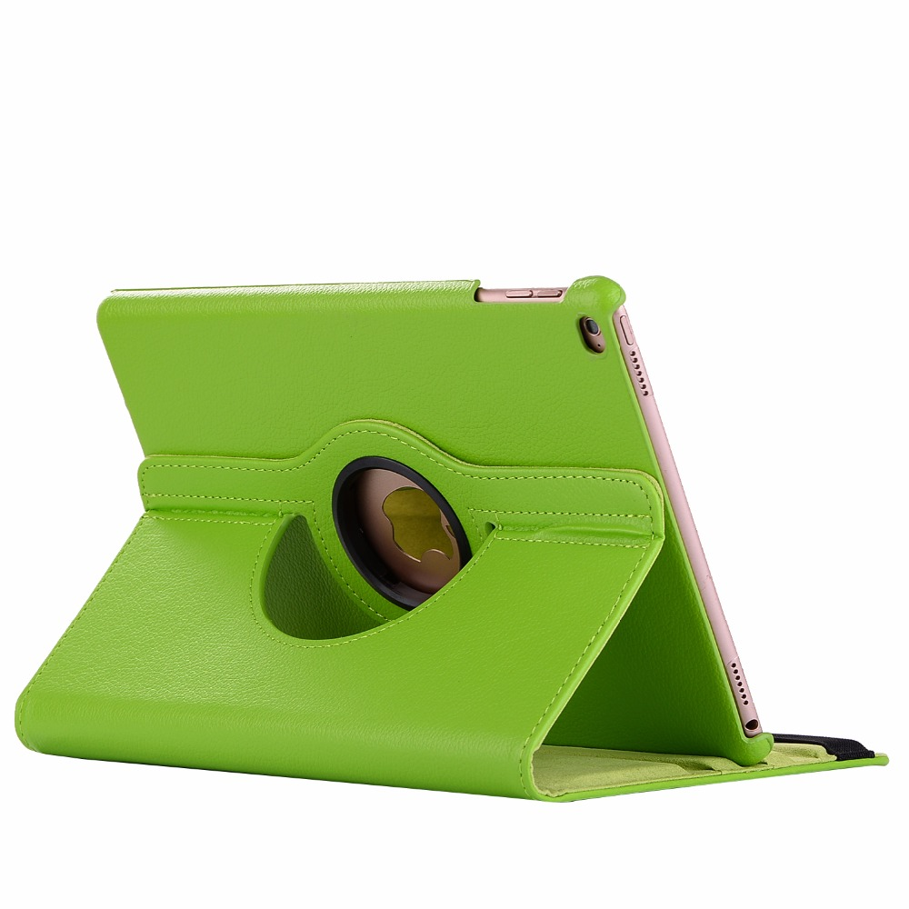 green Green 360 Degree Rotating PU Leather Flip Cover Case For iPad 10 2 2020 2019 8th 7th