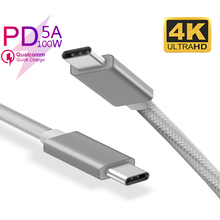 USB Type C Cable 3.1 5A 100W PD Quick Ch