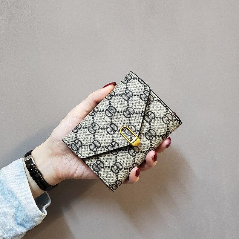 Style European And American Minimalist Women's Wallet Women's Short Three Fold Small Wallet Women's Purse Wallet Leather Wallet