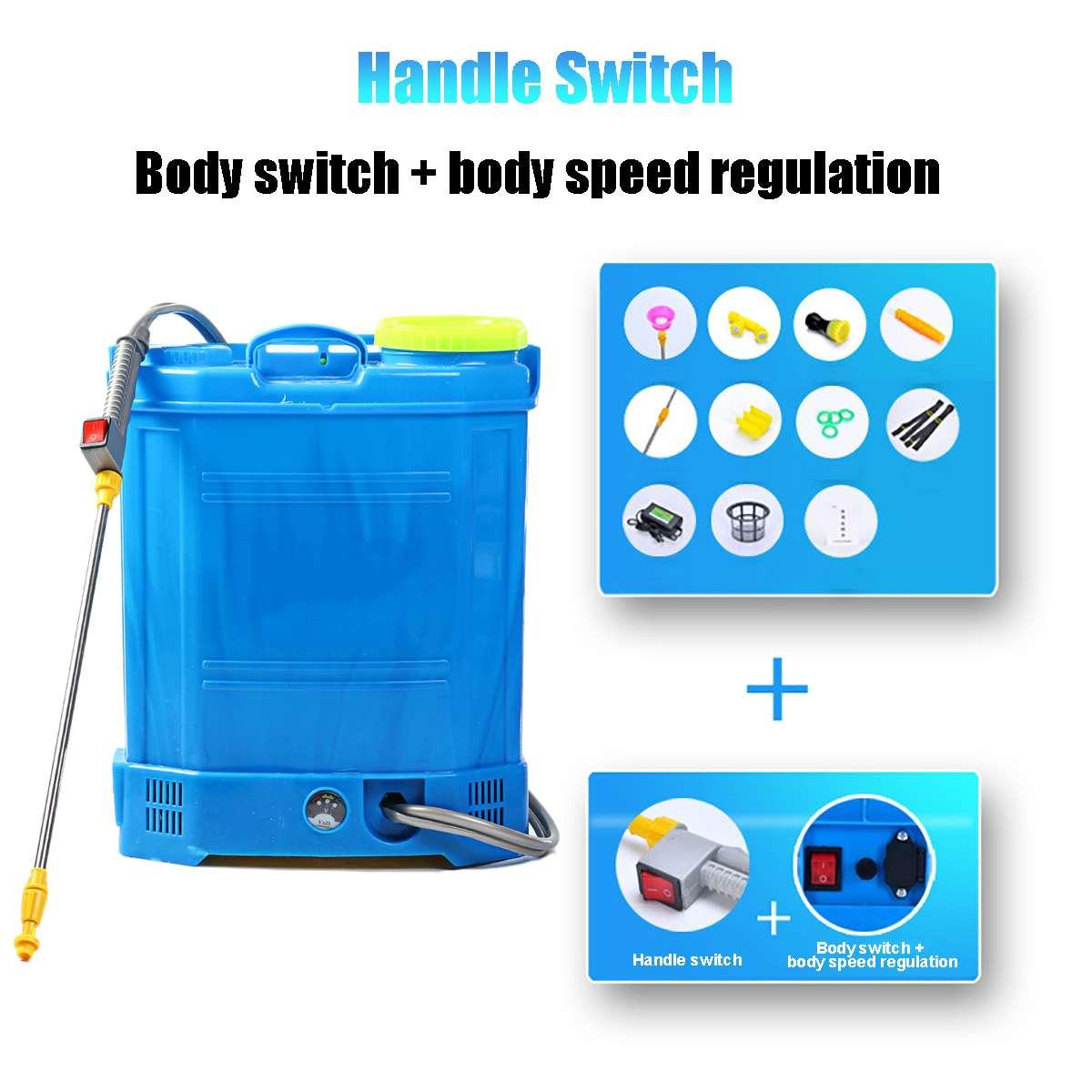 20L Electric Sprayer Intelligent Agricultural Pesticide dispenser Garden equipment 220V Rechargeable Lead acid battery-4