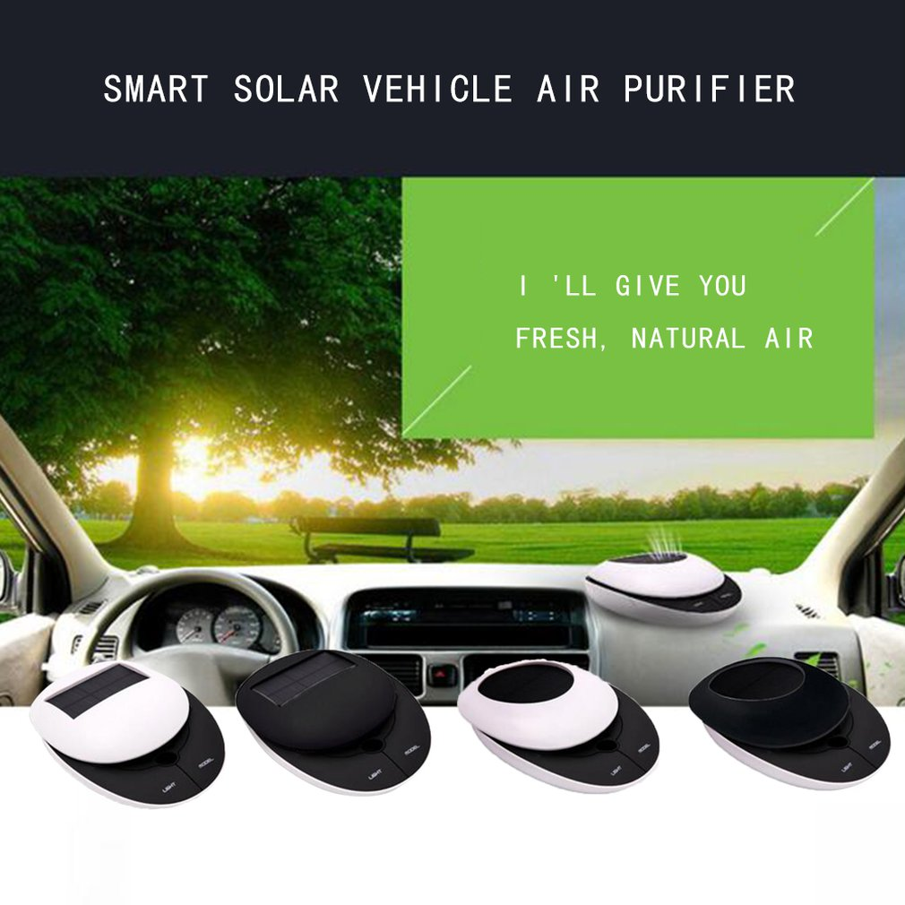 Smart Solar Car Air Purifier Car With Odor To Formaldehyde Negative Ion Car Oxygen Bar Aromatherapy Machine|Car Air Purifiers| |  - title=