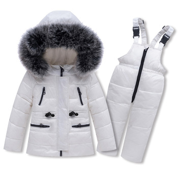 XINBAO Outerwear+Romper 90% Duck down Warm  Kids winter jacket Hooded Snowsuit Clothing Set boys girls Children Infant Overcoat