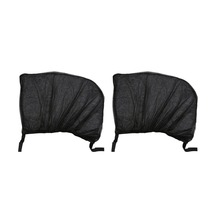 2Pcs Flexible Auto Side Rear Window Sun Shade Mesh Curtain Car UV Protection Mesh Cover Mosquito Dust Protective Sleeve