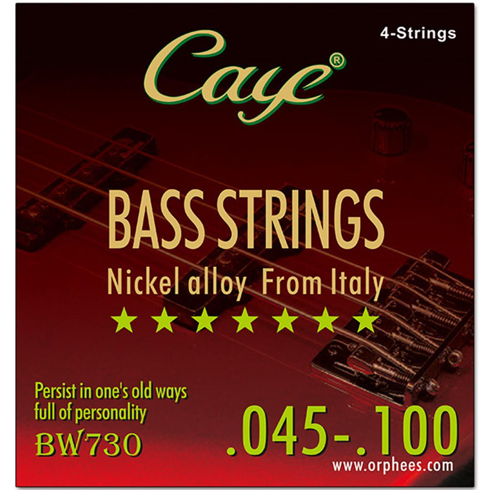CAYE 4/5/6pcs Strings Electric Bass Strings Set Hexagonal Steel Core Inner Wire Stainless Steel Outer Wire Bass Guitar String