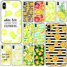 INS fruta limón naranja funda inteligente silicona suave TPU Teléfono para iPhone 5 5S SE 6 7 plus 8 plus X XS X XR XS Max 11 Pro Max