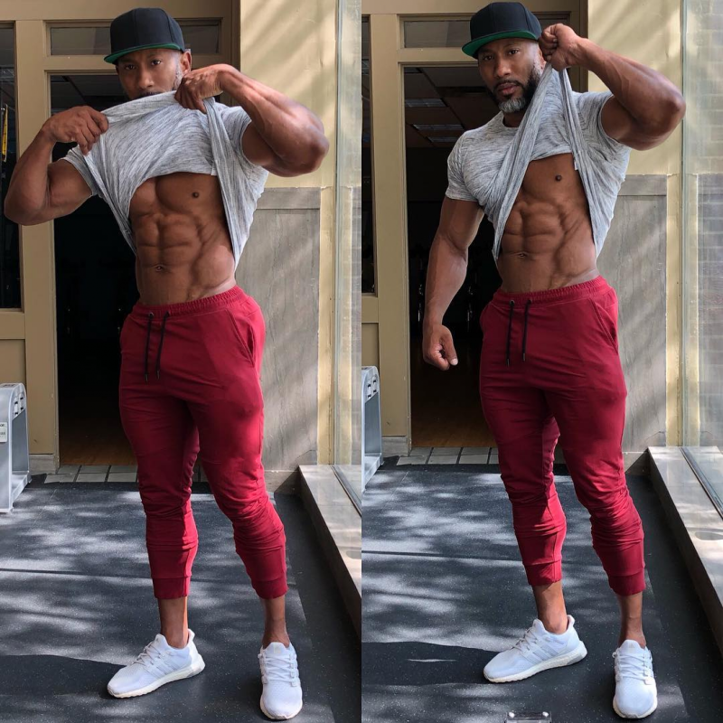 2019 Autumn New Mens Cotton Sweatpants Gyms Fitness Workout Solid Trousers Male Casual Fashion Pencil Pants Joggers Sportswear