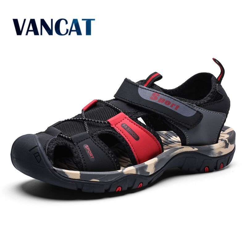 Vancat 2020 Summer New Men Soft Sandals Comfortable Men Summer Water Shoes Sandals Soft Beach Sandals Men Roman Shoes Sneakers