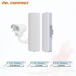 COMFAST 3-5km 300Mpbs bezprzewodowy mostek AP daleki zasięg CPE 2.4G i 5.8G wzmacniacz sygnału WIFI wzmacniacz sygnału wifi router dla kamera ip