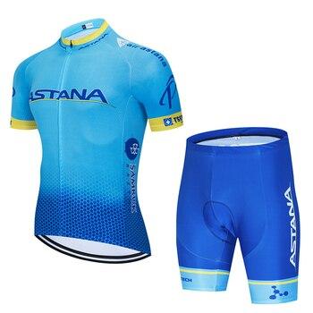 Nuevo 2019 camiseta de ciclismo ASTANO equipo 12D bicicleta shorts set de...
