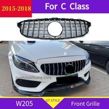 Calandre avant ABS pour mercedes W205 classe C 2015 – 2018 C180 C200 C300, Grille de pare-choc avant de sport, ne convient pas à C63
