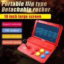 Powkiddy a13 10 Polegada joystick arcade a7 arquitetura quad-core cpu simulador de vídeo game console novo jogo presente das crianças