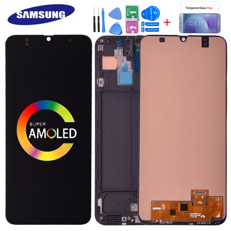 SUPER AMOLED <font><b>LCD</b></font> Display For <font><b>SAMSUNG</b></font> GALAXY <font><b>A30</b></font> A305/DS A305FN A305G Touch Screen Digitizer Assembly For <font><b>Samsung</b></font> <font><b>A30</b></font> <font><b>LCD</b></font> image