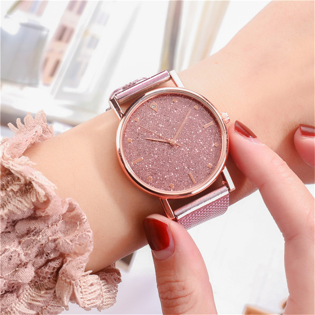 Fast delivery Fashion Business Women Watch Luxury Watches Quartz Watch Stainless Steel Dial Casual Bracele Watch Female new 5