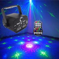 Dj Disco lumière led projecteur Laser effet de lumière de fête Audio DJ Club Bar KTV famille Led 16 couleurs spectacle d'éclairage de scène avec contrôle