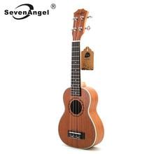 SevenAngel – ukulélé Soprano 21 pouces, bordure en acajou, cinq fils ABS, petite guitare, Mini voyage hawaïen, vente en gros