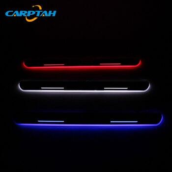 CARPTAH отделка педали автомобиля внешние части LED порога потертости пластины путь динамический стример свет для Toyota Corolla 2014-2019