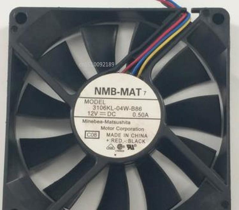 Cpu Cooling Fan For NMB 8015 3106KL-04W-B86 0.50A 80*80*15mm 8CM 4 Line Heat Sink Fan Free Shipping