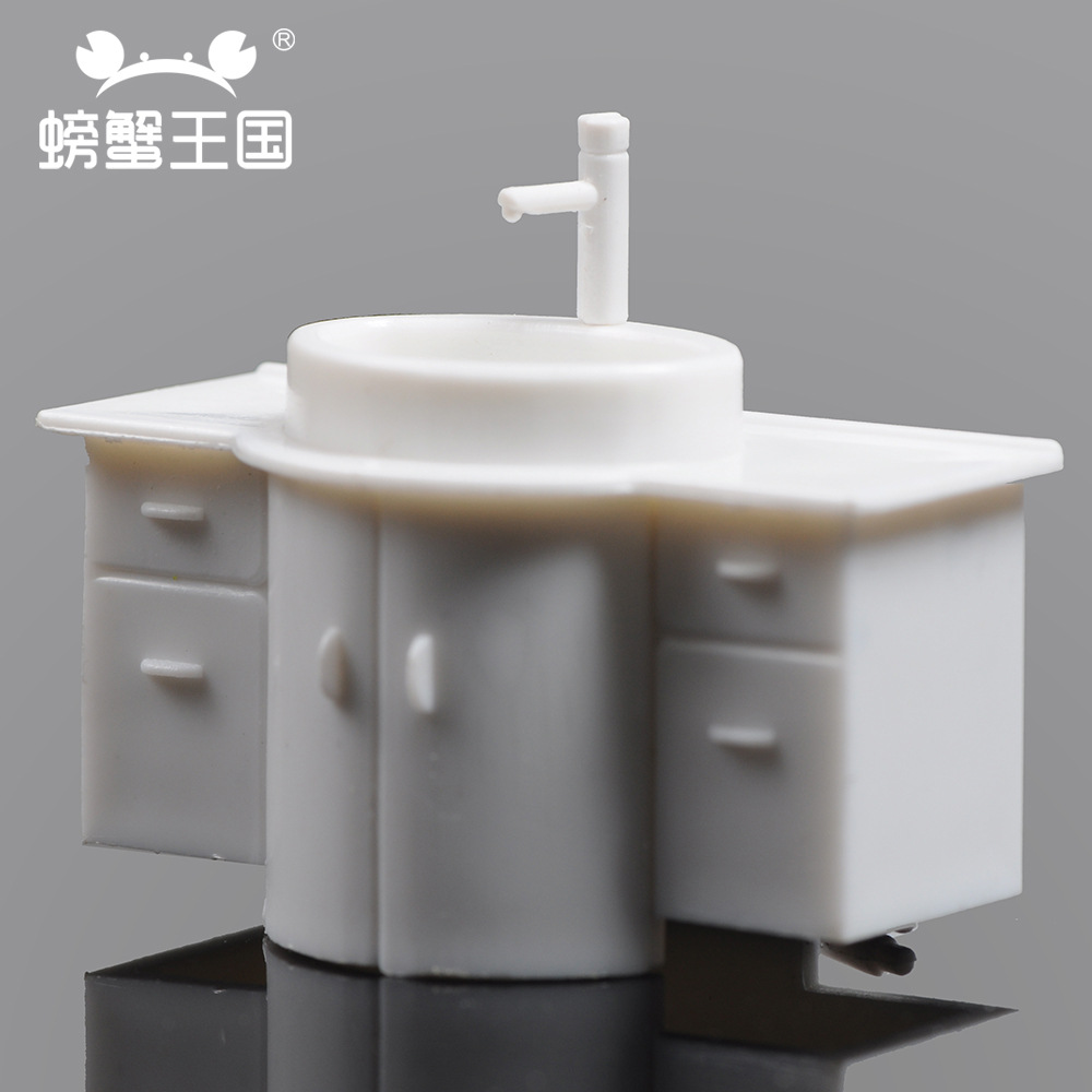 Crab Kingdom DIY Model Architecture Scene Bathroom Toilet Scene Tap 1 Spare Parts Multi-Specification