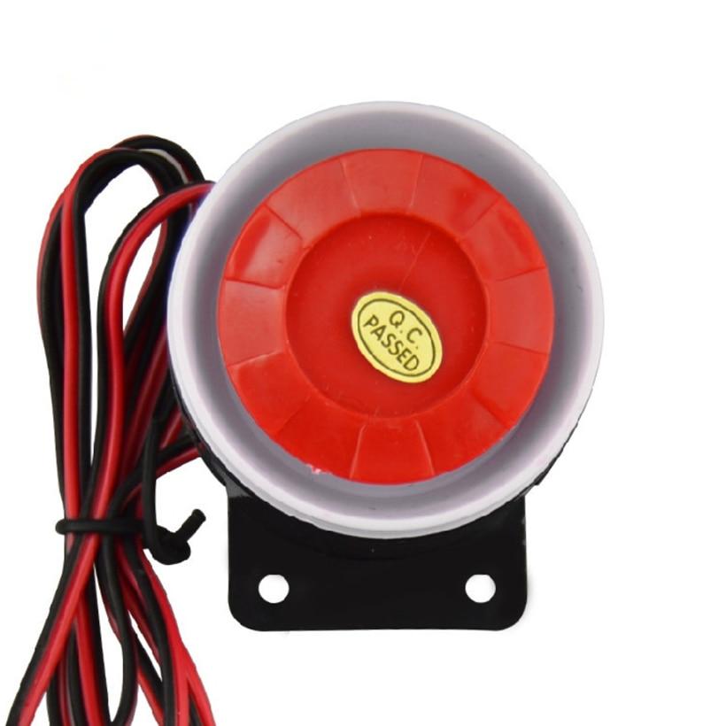 IUwnHceE Wired Mini Sirena De Alarma Sistema De Seguridad Casero Cuerno De Sirena 120db 12v