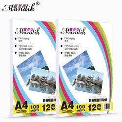 120g 140g A3 A4 100 hojas por paquete de doble cara mate de inyección de tinta de impresión de papel fotográfico recubierto