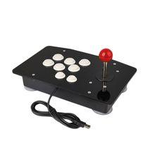 새로운 제로 지연 아케이드 조이스틱 USB 파이팅 스틱 게임 컨트롤러 PC 데스크탑 컴퓨터 용 8 개의 버튼이있는 게임 패드 비디오 게임