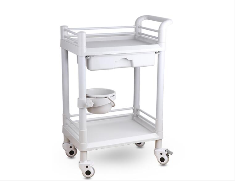 Beauty Stroller Beauty Salon Stroller Small Bubble Instrument European Hairdressing Manicure Multi-function Mobile Tool Cart
