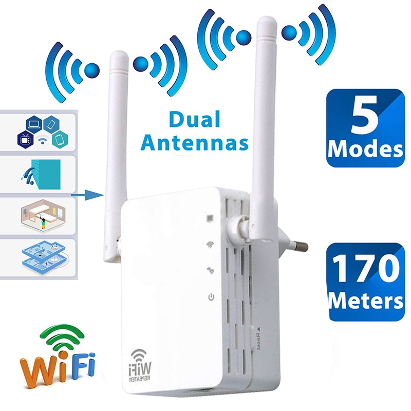 FFYY-New 2.4Ghz 300m WiFi Wireless Range Extender Router Repeater Network Signal Booster EU Plug
