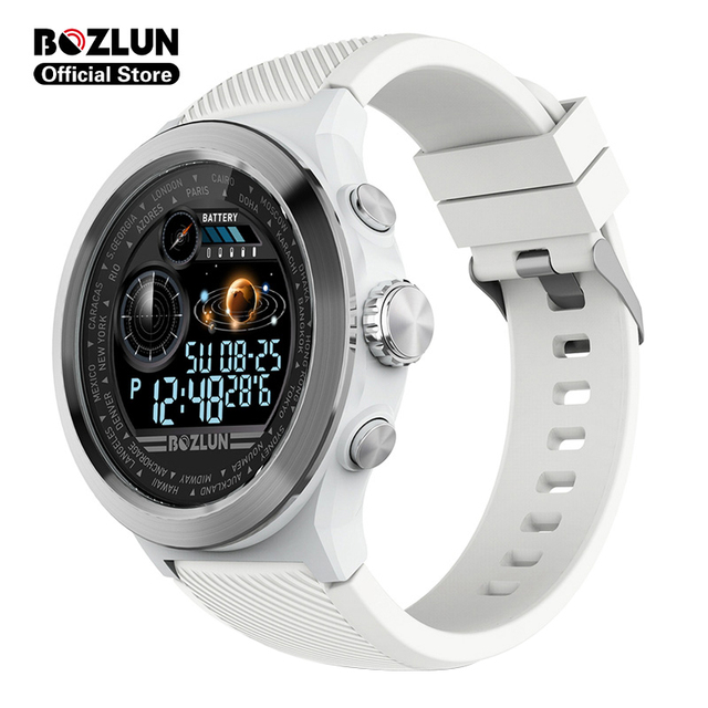 Bozlun W31 1.44 inch Full Screen Men Smart Watch Men Heart Rate Monitor IP68 Waterproof Smartwatch For android ios Phone