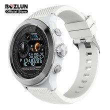 Bozlun W31 1.44 pouces plein écran hommes montre intelligente hommes moniteur de fréquence cardiaque IP68 étanche Smartwatch pour téléphone android ios