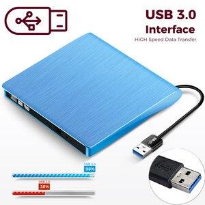 KuWFi External USB 3.0 Drive CD-RW DVD-ROM DVD-RW Burner Player USB Portable CD Reader for Windows7/8/10 PC Laptop(China)