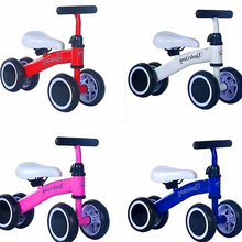 купить Balance Car Children's Four-Wheeled Balance Car Baby Scooter Infant Toddler Walker Without Pedal Toys for Children в интернет-магазине