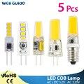 Светодиодный светильник G4 G9 с регулируемой яркостью  5 шт.  220 В  переменный ток  12 В  светодиодный COB светильник  светодиодный G9 3 Вт 6 Вт 10 Вт  SMD ...