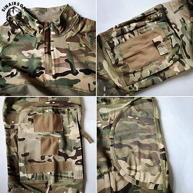New Men Combat Shirts Proven Tactical Clothing Military Uniform CP Camouflage Airsoft Hunting Army Suit Breathable Work Clothes 4