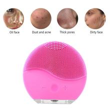 Electric Facial Cleanser Vibration Waterproof  Skin Care Tool Remove Blackhead Pore Cleansing Brush Silicone Face Massager halu silicone wash face brush facial pore cleanser body cleaning skin massager beauty tool facial care cleansing beauty brush