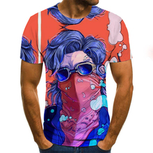 Men clothes 2020 Plus Size Cool T Shirt Summer stranger things Harajuku 3d print T-shirt Crew Neck Casual Tee Shirt
