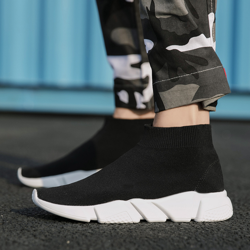 US $7.13 49% OFF Shoes Men Brand Trend Socks Sneakers for Couples Mesh Outdoor Walking Men Women Running Shoes Zapatos De Mujer Yeezys Air 350 on