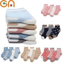 Children Cotton Socks Stripe Kids Newborn Infant Girl Baby Sport's Cartoon Fashion Autumn/winter