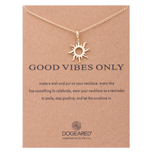 2019 Fashion Jewelry Gold Silver Color Good Vibes Only Sun Chocker Necklace Pendant for Women Girl Best Gift