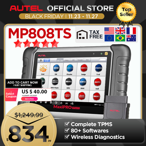 Image 1 - Autel MaxiPRO MP808TS Professional เครื่องมือ AutoDiagnostic Scanner TPMS รีเซ็ตน้ำมัน EPB BMS SAS DPF IMMO เช่น DS808 + TS601 PK MK808