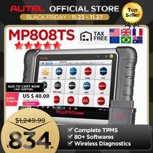 Autel MaxiPRO MP808TS profesyonel otomatik teşhis aracı tarayıcı TPMS yağ sıfırlama EPB BMS SAS DPF IMMO olarak DS808 + TS601 PK MK808