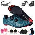 Boodun men pro ciclismo de estrada sapatos de bicicleta respirável sapatos de bloqueio automático atlético de corrida sapatos de bicicleta tênis de ciclismo