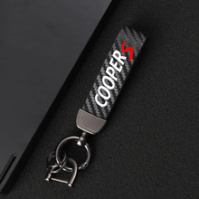 High-Grade Leather Car KeyChain 360 Degree Rotating Horseshoe Key Rings for mini cooper s r55 r56 f55 r56 car Accessories