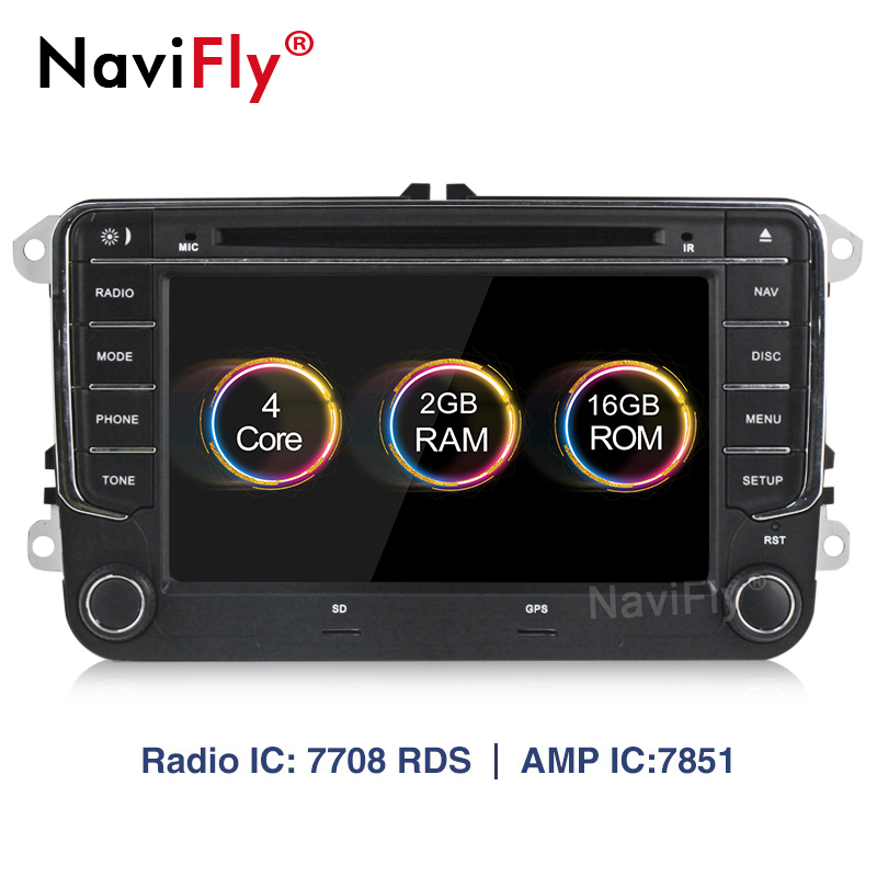 Android 8.1 2 DIN Car multimedia DVD player for VW Volkswagen PASSAT B5 B6 POLO GOLF 5 6 MAGOTAN CC BORA TIGUAN GPS Navigation image